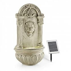 Blumfeldt Löwenstein, nástenná fontána, záhradná, solárny panel, 2 W, LED, polyresín, vzhľad kameňa