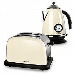 Klarstein Aquavita Creme, krémová, raňajková sada, 2200 W rýchlovarná kanvica + 1000 W hriankovač