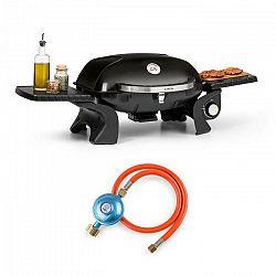 Klarstein Parforce One, plynový gril, 3,5 kW, 12000 BTU, 300 °C, SNJS, plynová hadica, čierny