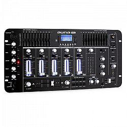 Auna Pro Kemistry 3 B, 4-kanálový DJ mixážny pult, bluetooth, USB, SD, phono, čierny