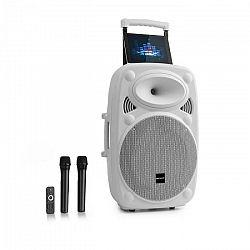 """Auna Pro Streetstar 15, mobilné PA zariadenie, 15"""" (38 cm), 2 x UHF mikrofón, max. 1000 W, biele"""