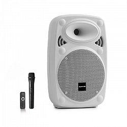 "Auna Pro Streetstar 8, mobilný PA systém, 8"" (20 cm), UHF mikrofón, 200 W max., biely"