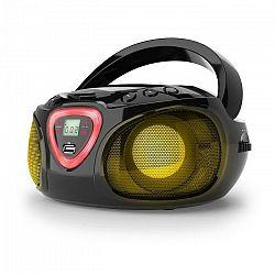 Auna Roadie, boombox, čierny, CD, USB, MP3, FM/AM rádio, bluetooth 2.1, LED farebné efekty