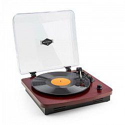 Auna TT370, čerešňa, retro gramofón, integrovaný reproduktor, USB, MP3, AUX