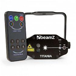 Beamz Titania Double Laser 200mW RG Gobo, laserová trieda 3B, IR-diaľkové ovládanie