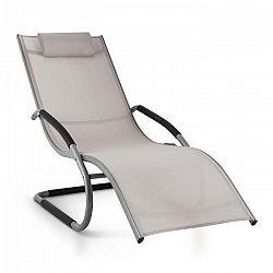 Blumfeldt Sunwave, záhradné lehátko, hojdacie ležadlo, relax, hliník, šedé
