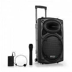 "Ibiza Port12VHF-BT 30 cm (12""), PA systém,USB, SD, AUX, MP3, bluetooth"