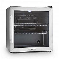 Klarstein Beersafe L, chladnička s objemom 50 litrov, energet. trieda B, sklenené dvere, nerezová oceľ