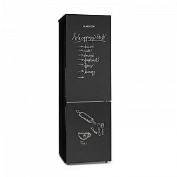 Klarstein Miro XL, chladnička s mrazničkou, 177/74 l, A+, tabuľová predná časť, čierna
