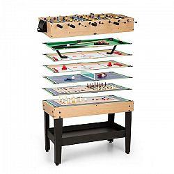 OneConcept Game-Star, herný stôl s37 hrami, multiherný, odkladací priečinok, MDF