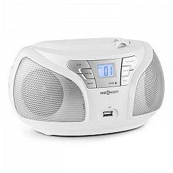 OneConcept Groovie WH, biela, boombox s bluetooth CD FM AUX MP3