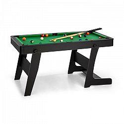 OneConcept Trickshot, biliardový hrací stôl, 140 x 64,5 cm, 16 gulí, 2 biliardové palice, MDF, čierny